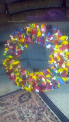 Balloon wreath over 500 balloons