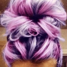 Messy Buns with Purple Hair Color - Girl Hairstyle Ideas - Looking for Hair Extensions to refresh your hair look instantly? KINGHAIR® only focus on premium quality remy clip in hair. Visit - - for more details Pretty Hairstyles, Girl Hairstyles, Hairstyle Ideas, Style Hairstyle, Braided Hairstyles, Undercut Hairstyles, Updo Hairstyle, Wedding Hairstyles, Quinceanera Hairstyles