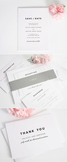 Urban Romance Wedding Invitations