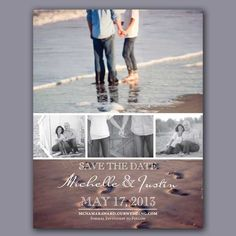 Photo Reel Save the Date- photo collage- engagement photos- photo ideas