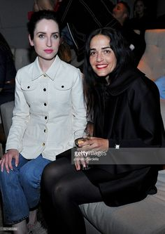 Actress Zoe Lister-Jones (L) and Stephanie Danan attend 'The First Monday in May' Los Angeles screening hosted by Bryan Lourd, Wendi Murdoch, Anna Wintour, iTunes and Magnolia Pictures at NeueHouse Hollywood on April 15, 2016 in Hollywood, California.