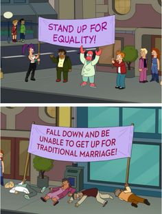 Futurama equality vs traditional marriage