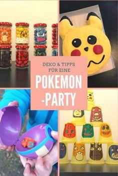Deko & Tipps für eine coole Pokemon-Party. Mit Pikachu-Kuchen, Pokemon, Pokeball und vielen Spielen zum Kindergeburtstag. Mehr Infos auf https://mamaskind.de.