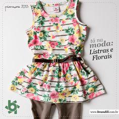 Mix de flores com estampa para deixar o look descolado e feminino :)