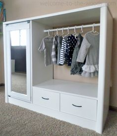She Got An Old Entertainment Center For $10 And Turned It Into THIS For Her Daughter! So Smart! :: NX2 - News Twice As Fast