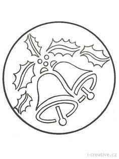 Рождественские колокольчики — вытынанки