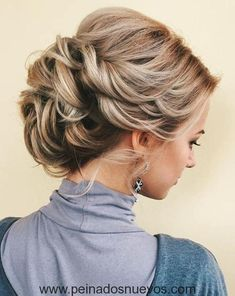 10 impresionantes peinados - diseños de estilo de pelo Bun Updo para mujeres