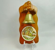 ON SALE NOW!  Currier and Ives/ The Old Homestead in Winter/ Wall Hanging/ Dinner Bell/Enesco/ 1960s/ Home Decor by TwoCousinsCollection on Etsy