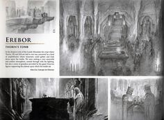 The Hobbit: the Battle of the Five Armies Erebor Tombs Concept Art - really wish they would have kept this in the movie