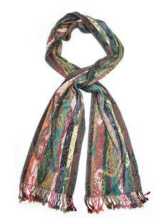 Elina Scarf, heavy weight pashmina scarf or shawl, indian bohemian design