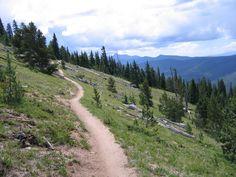 monarch crest mountain bike trail, salida, co
