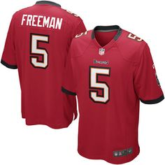 b846392ab Nike Josh Freeman Tampa Bay Buccaneers Historic Logo Youth Game Jersey - Red