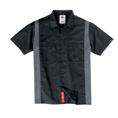 Dickies Short Sleeve Two-Tone Work Shirt  Moisture Wicking, Stain Release