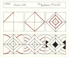 How to draw CHAIN LINK « TanglePatterns.com
