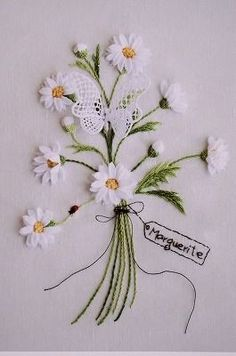 Inspiration: Daisy Ribbon embroidery