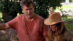 From time to time, we could all use some courage to get past the challenges that life throws down at our feet.  Pictured: Sam Axe (Bruce Campbell) and Fiona Glenanne (Gabrielle Anwar) From S4E10 Hard Time