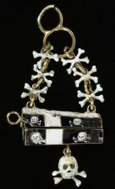 * Black and white enameled gold pendant, German, ca. 1660  Photo © Victoria and Albert Museum, London