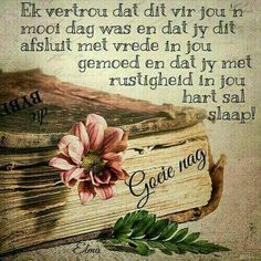 Good Night Blessings, Good Night Wishes, Good Morning Good Night, Good Night Quotes, Day Wishes, Evening Quotes, Evening Greetings, Afrikaanse Quotes, Goeie More