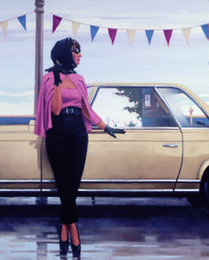 Suddenly One Summer painted by Jack Vettriano