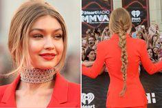 10 penteados de festa de Gigi Hadid
