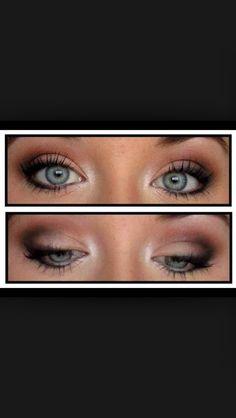 Maquillage yeux bleu