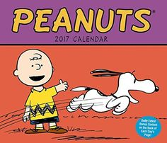 Peanuts 2017 Year In A Box Desk Calendar Full Colored Images Easel Stand #PeanutsWorldwide
