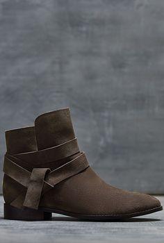 $169 LTS Hattie Suede Tie Boot
