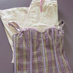 Victoria's Secret Bundle- Sm Awesome purple plaid corset top with built in bra & back zipper and a comfy pair of PJ bottoms! Victoria's Secret Intimates & Sleepwear