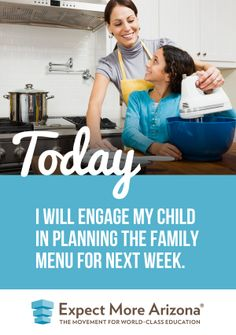 From math to language arts to science and more, there is so much your child can learn from helping you plan your family's meals. Plus, your child is likely to be more excited to eat a meal he or she helped plan and create. This is also a great opportunity to discuss health and nutrition!  What ways do you involve your child(ren) in planning family meals?  Find more ways to show your support for students & teachers Today and every day at http://TodayInAZ.org/ #TodayInAZ