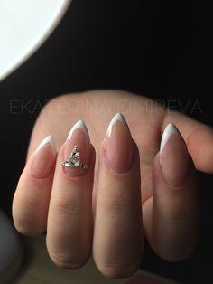 #френч#идеиманикюра#маникюр#ногти#наращиваниеногтей#стразынаногтях#идеальныйманикюр