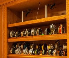 Fly Tying Room - traditional - Basement - Boston - Today's Real Kitchen Design Company Fly Fishing Equipment, Fly Fishing Gear, Trout Fishing, Fishing Tips, Fishing Stuff, Fishing Shack, Fishing Boats, Fly Reels, Fishing Reels