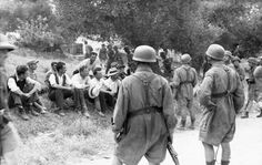 On June 1941 a brutal massacre took place in the village of Kondomari, just west of the city of Hania. The Battle of Crete had just completed and the Ww2 German, German Army, Battle Of Crete, Victory In Europe Day, Invasion Of Poland, Greek Warrior, Greek History, Crete Greece, Paratrooper