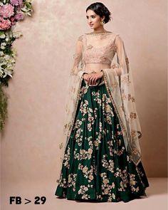 Unique Bridal Lehenga designs that is every Bride's pick in Indian Lehenga, Lehenga Choli, Lehenga Indien, Bridal Lehenga, Bridal Lenghas, Sarees, Wedding Lehnga, Blue Lehenga, Sabyasachi
