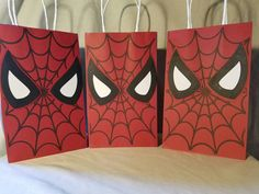 Spiderman Party Favor Bags all of ANY one by PartiesByDezzy First Superhero, Superhero Birthday Party, 6th Birthday Parties, Birthday Party Decorations, Boy Birthday, Party Themes, Party Ideas, Spiderman Theme, Spiderman Bag