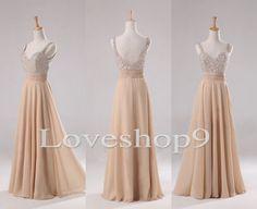Elegant Beaded Long Aline Chiffon Bridesmaid Dresses by loveshop9, $128.00 | supa cutee!!