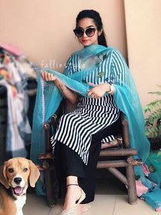 New suits Indian Designer Suits, Indian Suits, Indian Wear, Casual Suit, Casual Work Outfits, Punjabi Fashion, Indian Fashion, Ethnic Fashion, Kurta Designs