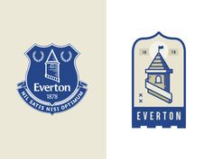 Everton Soccer Badge designed by Sam Horn. Connect with them on Dribbble; Everton Badge, Everton Soccer, Everton Fc, World Football, Badge Design, Saint Charles, Show And Tell, Premier League, Badges
