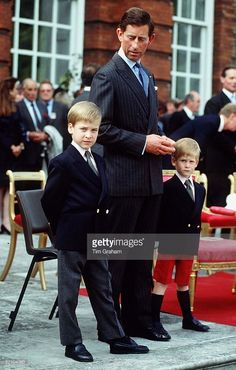 News Photo : Prince Charles With Prince William And Prince...