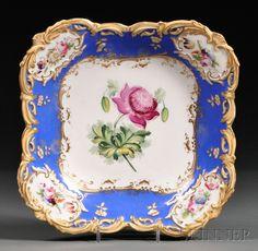 Old Paris Porcelain Serving Dish