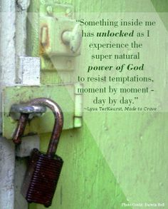 ...the supernatural power of God to resist temptations.