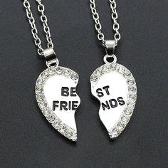 2pcs/pair fashion Best friend necklace.