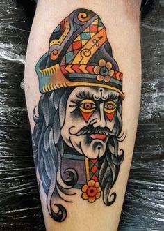 vlad the impaler tattoo - Body Art Tattoos, Print Tattoos, Cool Tattoos, Awesome Tattoos, Tatoos, Wolf Tattoo Traditional, Traditional Ink, Vampires, Ukrainian Tattoo