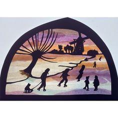 Silhouette, Window Art, Paper Cutting, Origami, Christmas Crafts, Moose Art, School, Animals, Inspiration