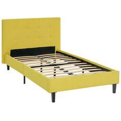 Modway Linnea Upholstered Platform Bed Sunny, Size: Twin - MOD-5422-SUN