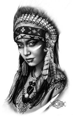 (notitle) - Tattoo vorlagen - #notitle #Tattoo #vorlagen American Indian Girl, Native American Girls, Native American Images, Native American Beauty, American Indians, American History, American Symbols, Tattoo Arm Frau, Wolf Tattoo Sleeve