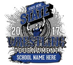 8dffb92b Wrestling State Tournament Apparel- Orders ready as early as same day! Wrestling  Shirts,