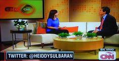 Heiddy Sulbarán en Café CNN Cool Stuff, Interview, Live