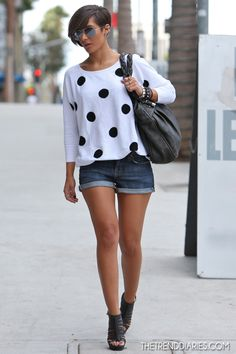 Frankie Sandford out in Los Angeles, California - September 29, 2012