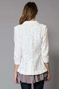WANT would get a ton of mileage out of this at work. I like lace like this- more classic, less boho