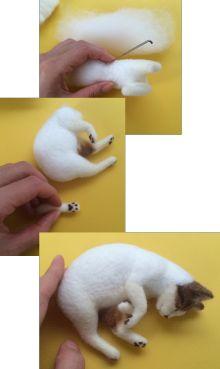 ボボチン仕上げ|ネコ作りの現場から~横山まゆみのリアルで可愛い羊毛フェルト猫 #catsdiycrafts